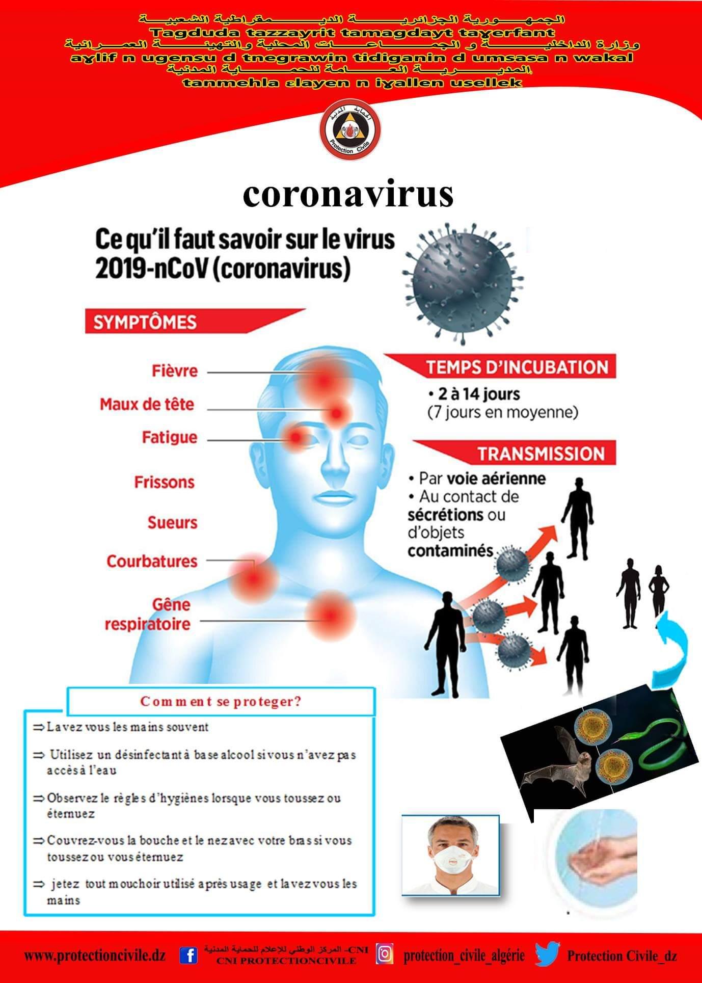 Coronavirus, recommandation SIIA: